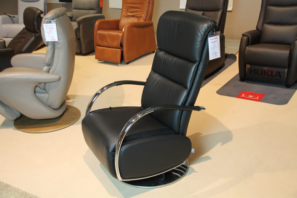 Dreamstar  - Relaxsessel schwarz Leder