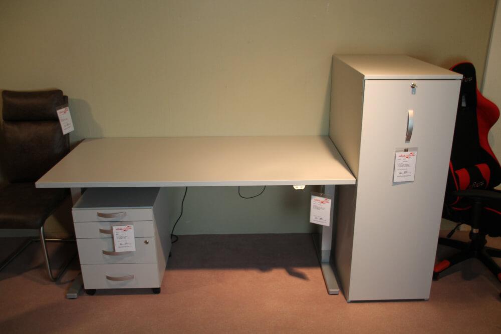 UP & DOWN  Schreibtisch höhenverstellbar mit Container