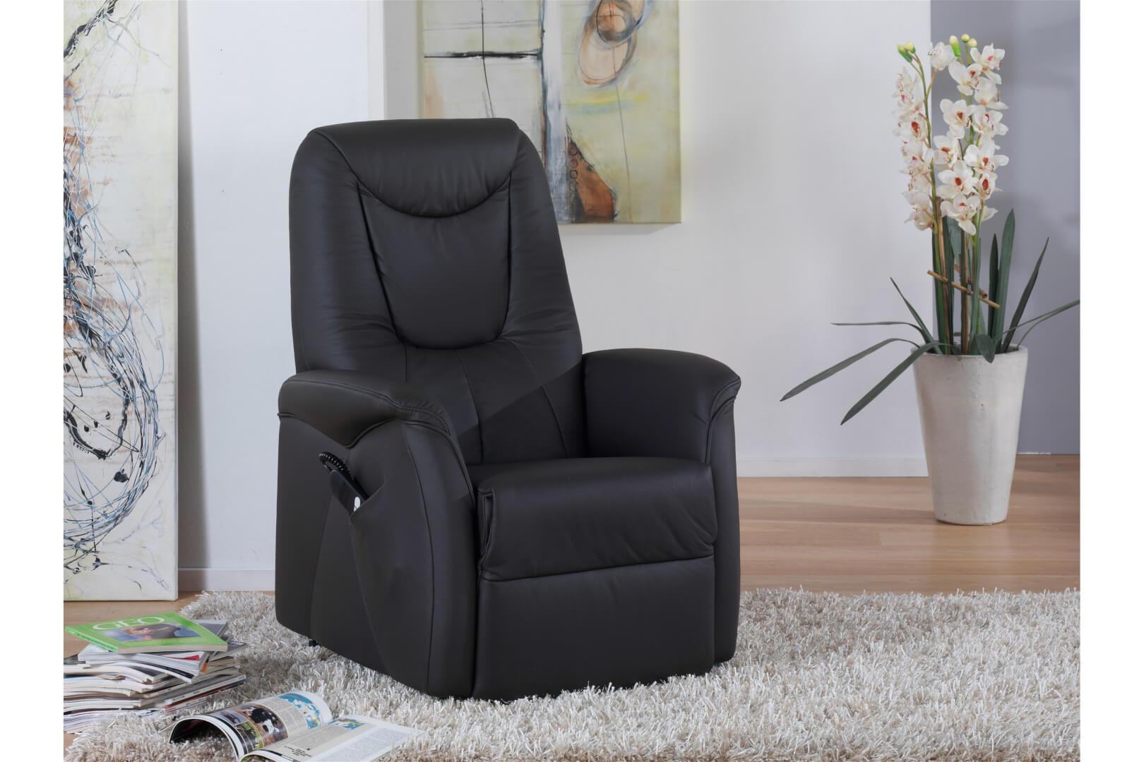 9771 TV-Sessel - 43 - 1-motorisch mit Aufstehhilfe - Nuvano Impala - Schlamm