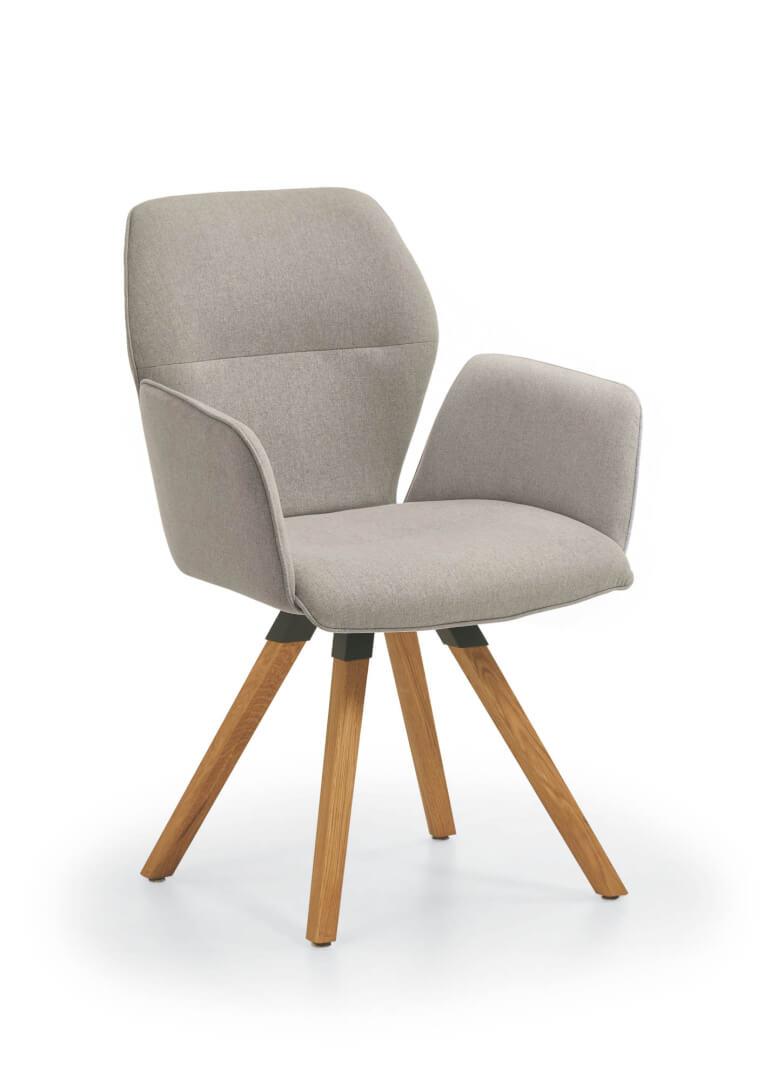 Merlot Design-Armlehnenstuhl mit Holzgestell