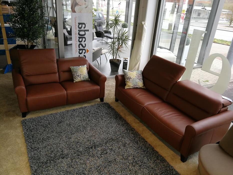 Ledergarnitur Bellagio 3,5er Sofa  und 2,5er Sofa