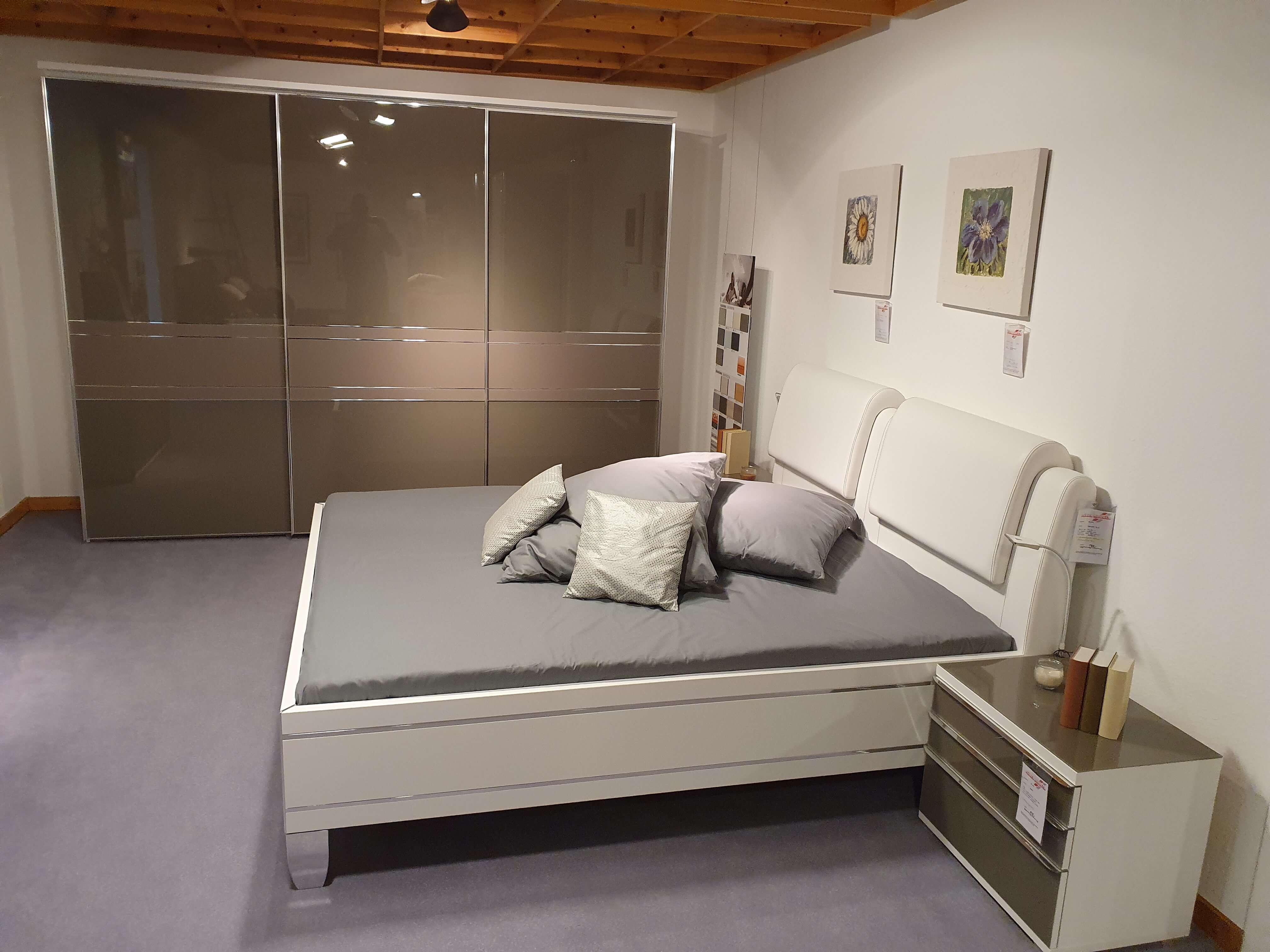 Sinfonie Rubin Sonate Schlafzimmer komplett ink Bett Nachtkonsolen Kleiderschrank Kombikommode