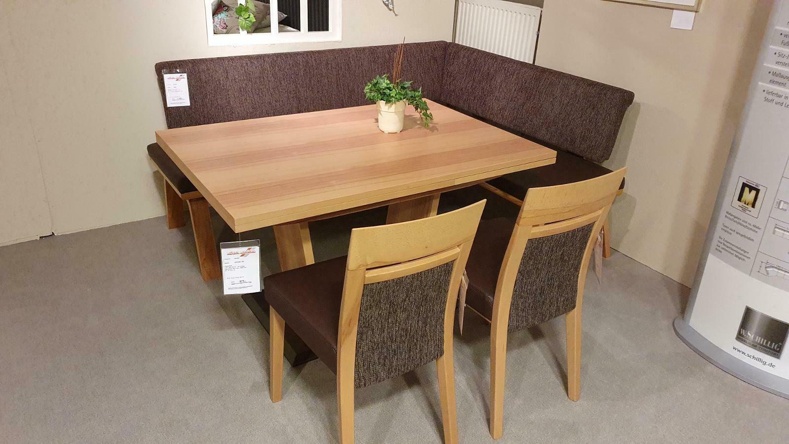 Wave - Eckbankgruppe mit Stühlen und Tisch