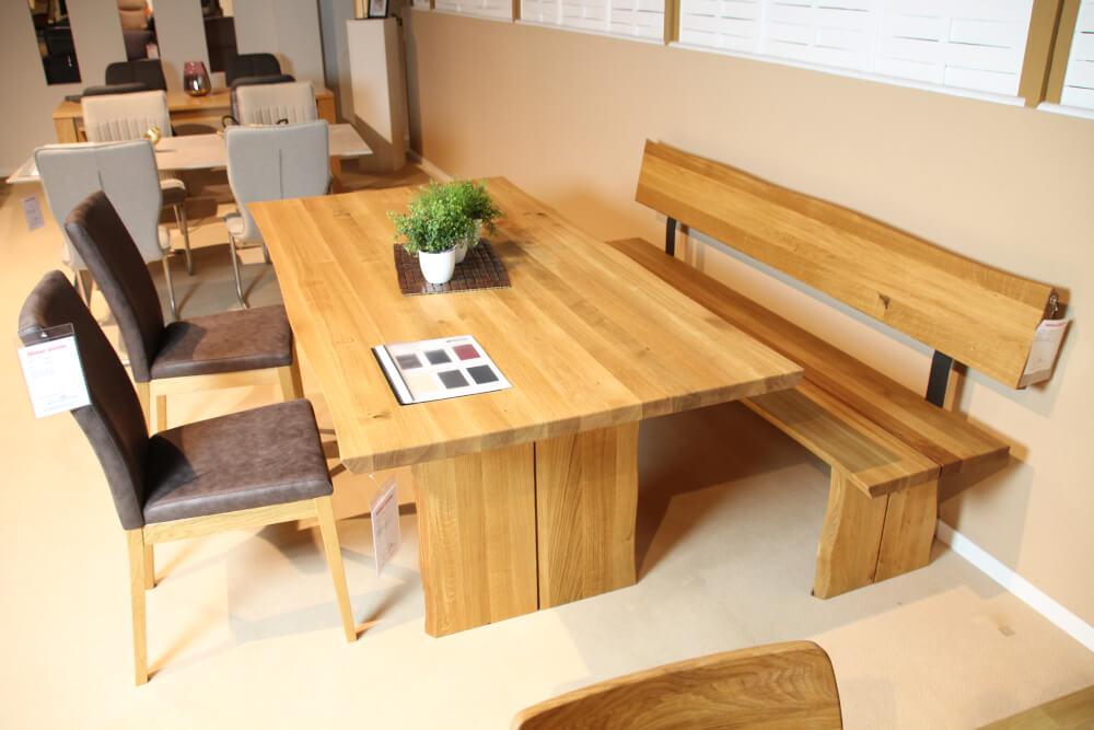 OVIEDO - Essgruppe Tisch, Holzbank, Stühle