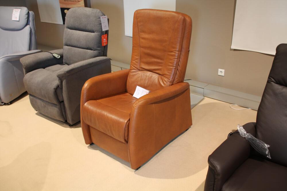 AP02 - TV Sessel in Leder Cognac